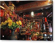 Confucius Statue Inside Dai Bai Duong Pavilion Acrylic Print