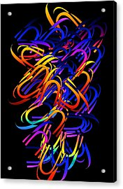 Acrylic Print featuring the digital art Confusion by Gayle Price Thomas