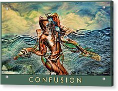 Acrylic Print featuring the mixed media Confusion by Tyler Robbins