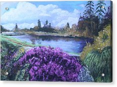 Acrylic Print featuring the painting Cong Ireland by Melinda Saminski