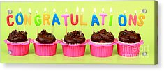 Congratulations Cupcakes Acrylic Print
