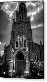 Congregation Mickve Israel Savannah Georgia In Black And White Acrylic Print