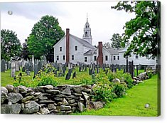 Congregational Church Cemetery Hollis Nh Acrylic Print by Janice Drew
