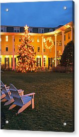 Congress Hall Christmas Acrylic Print by Tom Singleton