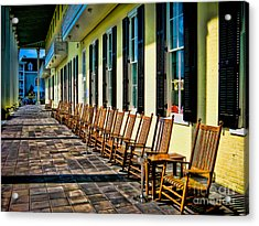 Congress Hall Rockers Acrylic Print by Colleen Kammerer