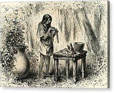 Conibo Woman 1869 Peru Acrylic Print by Peruvian School