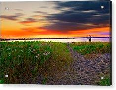Conimicut Point Beach Rhode Island Acrylic Print by Lourry Legarde