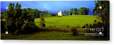 Acrylic Print featuring the photograph Conley Road Farm Spring Time by Tom Jelen