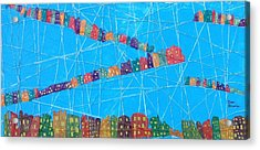 Connect City Acrylic Print by Isaac Alcantar