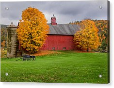 Connecticut Autumn Acrylic Print by Bill Wakeley