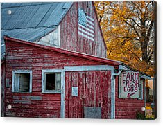 Connecticut Farmstand Acrylic Print by Thomas Schoeller