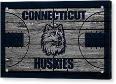 Connecticut Huskies Acrylic Print by Joe Hamilton