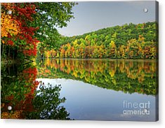 Connecticut River In Autumn Acrylic Print