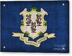 Connecticut State Flag Acrylic Print by Pixel Chimp