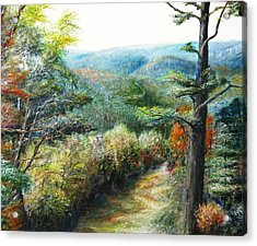 Connecticut Trail Acrylic Print by Michael Anthony Edwards