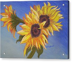 Connies Sunflowers Acrylic Print