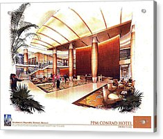 Conrad Hotel Dubai Acrylic Print by Jack Adams