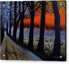 Conrad Road Sunrise Acrylic Print