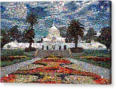 Conservatory Of Flowers Acrylic Print by Wernher Krutein