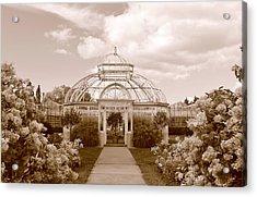 Conservatory- Sepia Acrylic Print