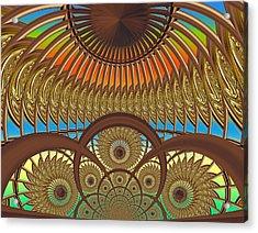 Conservatory - Sunset Acrylic Print by Wendy J St Christopher