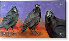 Acrylic Print featuring the painting Conspiracy by Pattie Wall