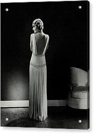 Constance Bennett As Seen From Behind Acrylic Print by Edward Steichen