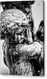 Constant Drip - Bw Acrylic Print by Christopher Holmes