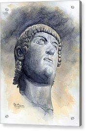 Constantine Bronze Head Acrylic Print by Maddy Swan