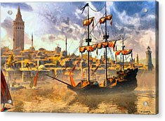 Acrylic Print featuring the digital art Constantinopoli Anno Domini 1533 by Kai Saarto