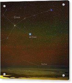 Constellation Grus Acrylic Print by Babak Tafreshi