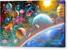 Constellations And Planets Acrylic Print by Adrian Chesterman