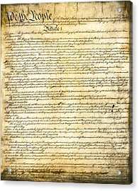Constitution Of The United States Acrylic Print