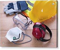 Construction Safety Equipment Acrylic Print