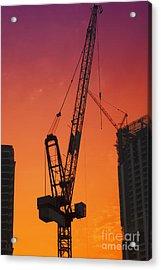 Construction Site Acrylic Print by Jelena Jovanovic