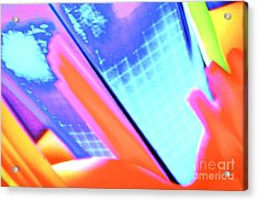 Consuming The Grid Acrylic Print by Xn Tyler