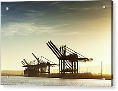 Container Cranes At The Port Of Los Acrylic Print