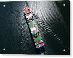 Container Ship Aerial Photo Acrylic Print
