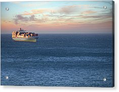 Container Ship At Sea Acrylic Print