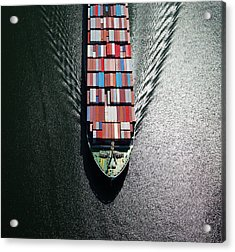Container Ship Bow Acrylic Print