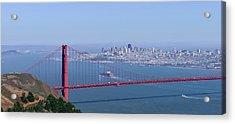 Container Ship Entering San Francisco Acrylic Print