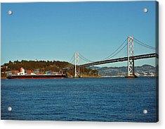 Container Ship Heading Toward The Bay Acrylic Print