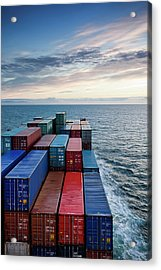 Container Ship On Kattegat Acrylic Print