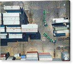 container truck Drive in Container storage . Acrylic Print by Anucha Sirivisansuwan