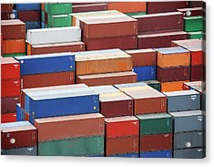 Containers At A Cargo Port Acrylic Print