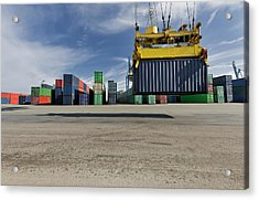 Containers Freight In Port Acrylic Print