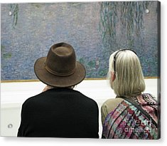 Acrylic Print featuring the photograph Contemplating Art by Ann Horn