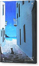 Acrylic Print featuring the painting Contemplating by Sgn