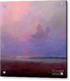 Contemplation At Sunset Acrylic Print