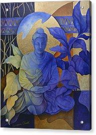 Contemplation - Buddha Meditates Acrylic Print by Susanne Clark
